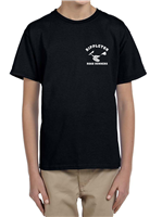 Youth Crew Neck Tee in Black