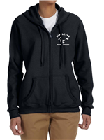 Women's Hoodie with Full Zipper in Black