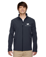 Men's Two-Layer Fleece Bonded Soft Shell Jacket in Carbon Grey